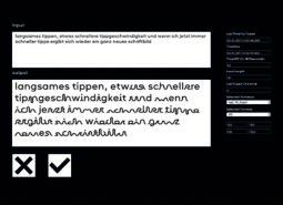 Charlotte Lengersdorf — agil – Entwurf einer interaktiven Schrift
